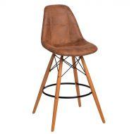 Krzesło barowe 46x54x105cm D2 P016W Pico brązowy