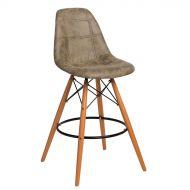 Krzesło barowe 46x54x105cm D2 P016W Pico oliwkowy