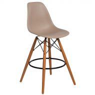 Krzesło barowe 46x54x105cm D2 P016W PP beżowe