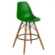 Krzesło barowe 46x54x105cm D2 P016W PP ciemne zielone