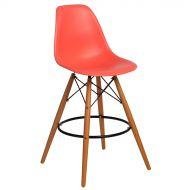 Krzesło barowe 46x54x105cm D2 P016W PP ciemna brzoskwinia
