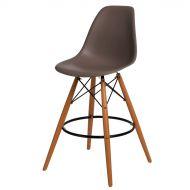 Krzesło barowe 46x54x105cm D2 P016W PP szaro-brązowe