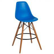 Krzesło barowe 46x54x105cm D2 P016W PP niebieskie