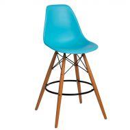 Krzesło barowe 46x54x105cm D2 P016W PP jasnoniebieskie