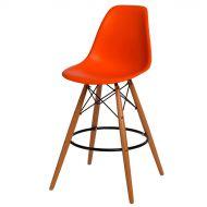 Krzesło barowe 46x54x105cm D2 P016W PP pomarańczowe
