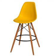 Krzesło barowe 46x54x105cm D2 P016W PP żółte