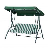 Huśtawka zielono-biała - meble ogrodowe - stal - ławka - Cammello