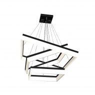Lampa wisząca 100-120x82cm Milagro Nero biało-czarna
