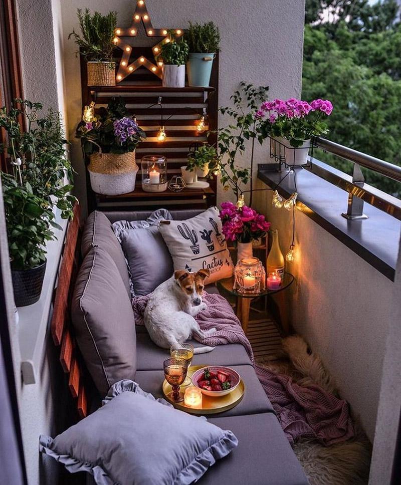 inspiracje na urządzenie balkonu w mieszkaniu