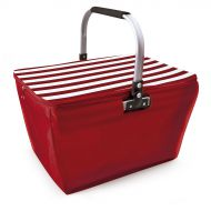 IRIS BASKET Kosz piknikowy - torba lodówka 20 l czerwony w paski