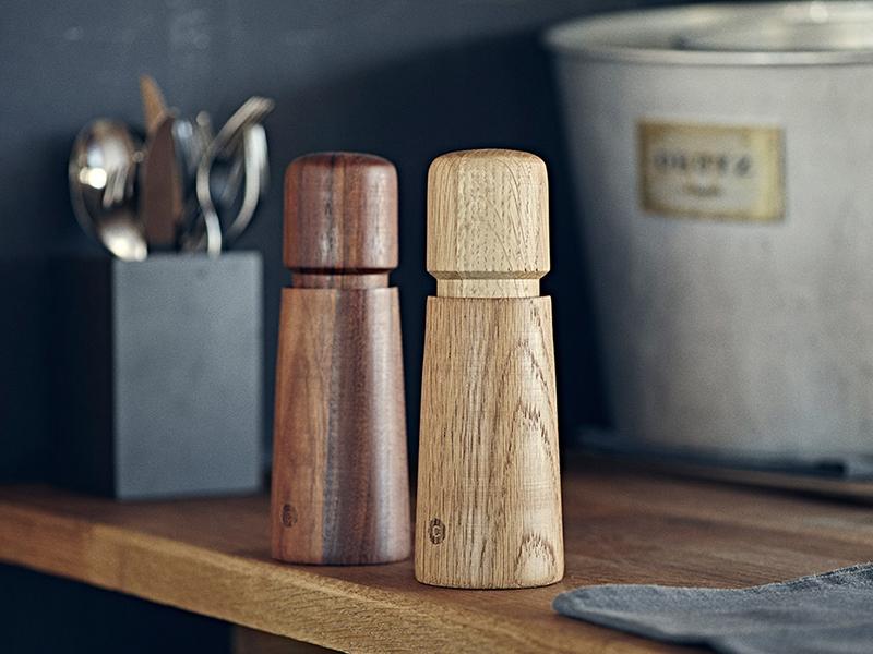 Drewniane młynki do mielenia przypraw