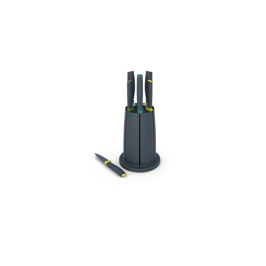 Zestaw noży Elevate ze stojakiem Opal WMF ciemnoszary