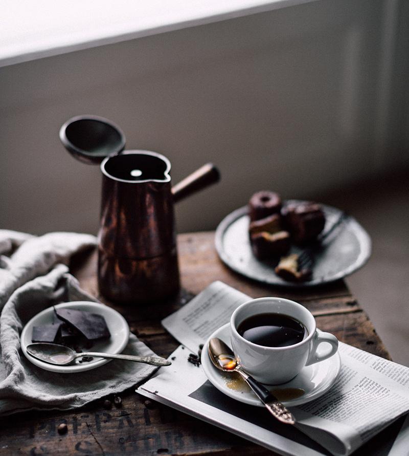 kawa zaparzona w kawiarce