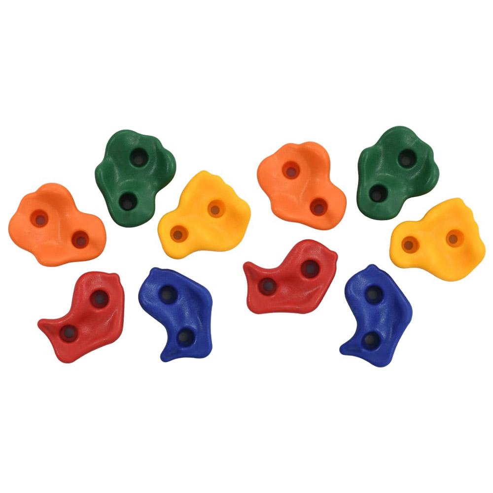 Kamienie wspinaczkowe, 10 szt., kolorowe, PE