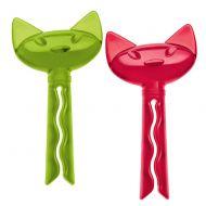 Klipsy do torebek 2 szt. Koziol Miaou zielono-czerwone