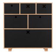 Komoda wysoka 80x45 Durbas Style Kółko Krzyżyk czarny mat tablicowy