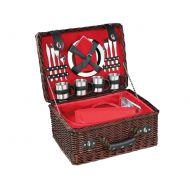 Kosz piknikowy z wyposażeniem Cilio Luino ciemny brąz