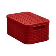 Koszyk rattanowy S 20x28,5x13cm Bazkar Style czerwony