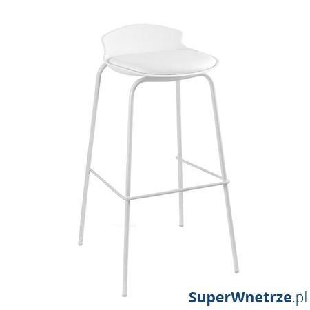 Krzesło barowe Unique Duke białe 7-87A-0-0