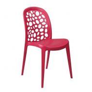 Krzesło Bladder czerwone
