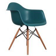 Krzesło 62x47x80cm Quadre Eiffel Wood Arm morska zieleń