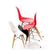 Krzesło JuniorP016 białe,drewniane nogi
