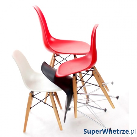 Krzesło Junior P016 drewniane nogi czarne 5902385702690