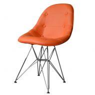 Krzesło King Bath Eames EPC DSR ekoskóra pomarańczowe