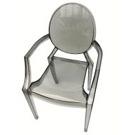 Krzesło 54x55x94cm King Home Louis dymione czarne