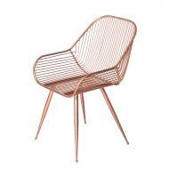 Krzesło metalowe Atelier 52x58 cm Miloo Home Metropolitan miedziane
