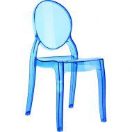 Krzesło D2 Mia niebieki transparentne