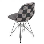 Krzesło 45x80x39cm D2 P016 DSR Pattern szare/patchwork