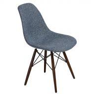 Krzesło 45x80x39cm D2 P016W Duo niebiesko-szare/dark