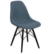 Krzesło 45x80x39cm D2 P016W Duo niebiesko-szare/black