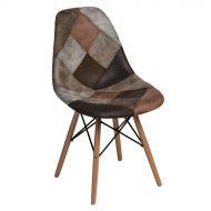 Krzesło 46x83x50cm D2 P016W patchwork beżowo-brązowe
