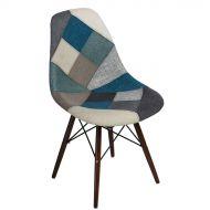 Krzesło 46x83x50cm D2 P016W Patchwork niebiesko-szare/dark