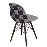 Krzesło 45x80x39cm D2 P016W Pattern szar-patch /dark