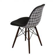 Krzesło 45x80x39cm D2 P016W Pattern szar-pepitka /dark