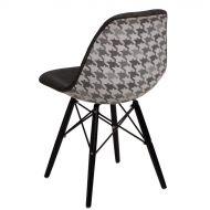 Krzesło 45x80x39cm D2 P016W Pattern szar-pepitka /black