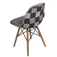 Krzesło 46x83x50cm D2 P016W Pattern szare/patchwork