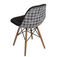 Krzesło 46x83x50cm D2 P016W Pattern szare/pepitka