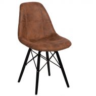 Krzesło 45x39x80cm D2 P016W Pico brązowe