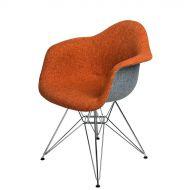 Krzesło 64x45x80cm D2 P018 DAR Duo pomarańczowo-szare