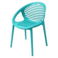 Krzesło PARILLA TIG turkusowe outlet - polipropylen