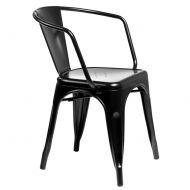 Krzesło D2 Paris Arms czarne