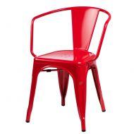 Krzesło D2 Paris Arms czerwone