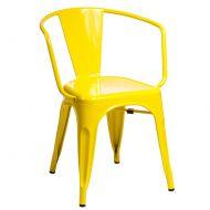 Krzesło D2 Paris Arms żółte
