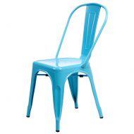 Krzesło D2 Paris niebieskie