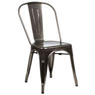 Krzesło D2 Paris w kolorze metalu