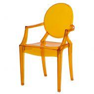 Krzesło D2 Royal pomarańczowy transparentny